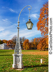 lantern in autumn park