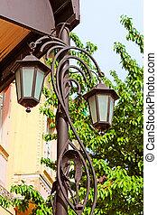 Lantern in Berehove, Ukraine
