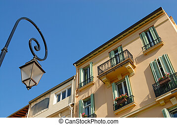 Lantern in front of residential house