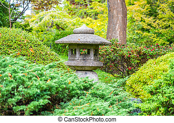 Lantern in Japanese Tea Garden in the Golden Gate Park, San ...