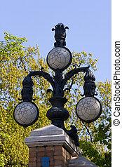 Lantern in spring park