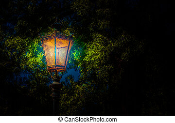 Lantern in the park. Background photo