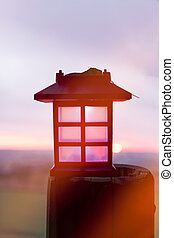 Lantern in the sunset