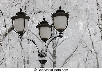 lantern in winter