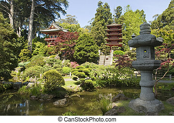 lantern japanese garden