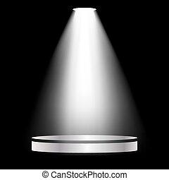 Lantern lights metal scene on a black background. Vector illustration