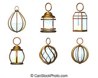Lantern metal set