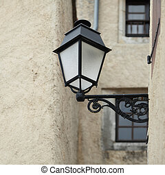 lantern on wall