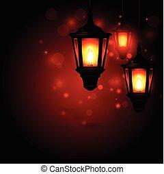 Lantern - Ramadan Kareem greeting