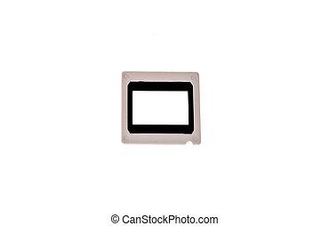 lantern slide frame on white