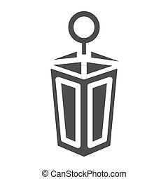 Lantern solid icon. Old lamp web vector illustration isolated on white. Antique lantern glyph style design, designed for web and app. Eps 10.