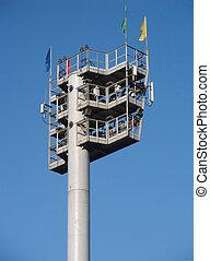 Lantern tower with light equipment