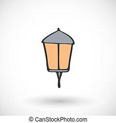 Lantern. Vector illustration.