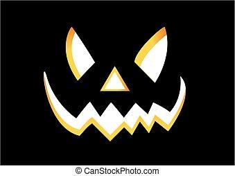 lanterna, halloween, cricco, o, zucca