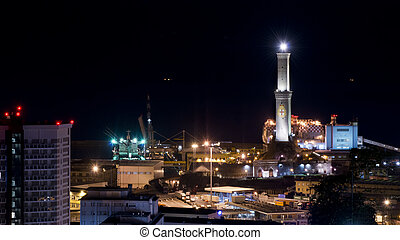 Lanterna of Genoa by night