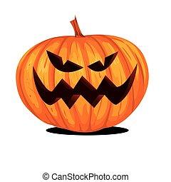 lanterne, halloween, cric, o, citrouille