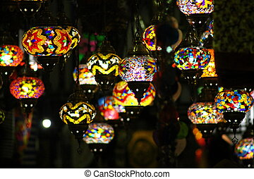 Lanterns - A collection of Moorish lanterns in many colours...