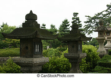 Lanterns - Horyuji Temple, Japan