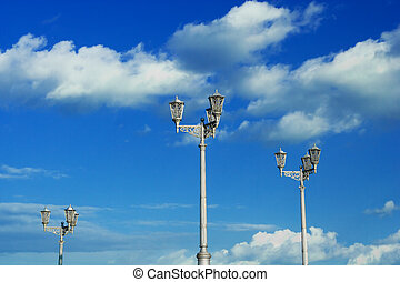 lanterns on a background of the sky