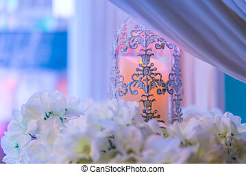 Lanterns With Candle In Wedding Stage Decoration Lanterns
