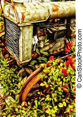 lantgård, årgång, traktor