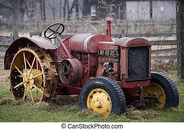 lantgård, gammal lastbil