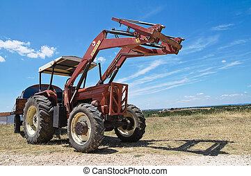lantgård, tractor.