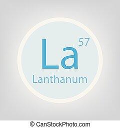 lanthanum la chemical element icon - Lanthanum Periodic Table Atomic Mass
