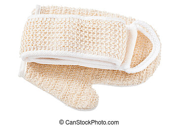 lanuginoso, set, washclothes, isolato, bianco
