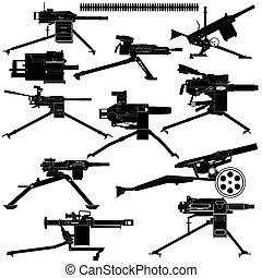 lanzador, automático, granada