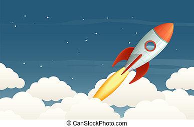 lanzamiento, cohete