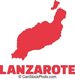 Lanzarote map with name
