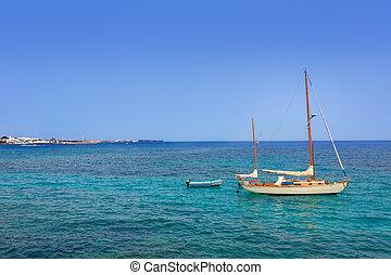 lanzarote, playa blanca, praia, em, atlântico