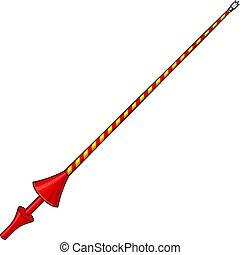 lanze, ritter, weapon), (medieval, abbildung, vektor