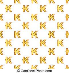 Lao kip currency symbol pattern, cartoon style