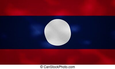 Laos dense flag fabric wavers, perfect loop for background