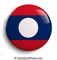 Laos Flag icon. Clipping path included.