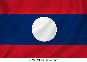 Laos national flag background texture.