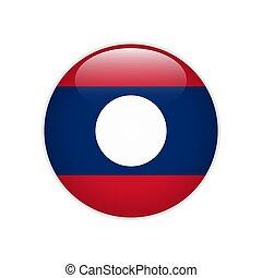 Laos flag on button