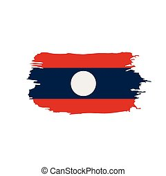 Laos flag, vector illustration on a white background