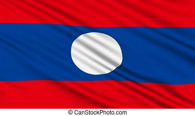 Laos Flag, with real structure of a fabric