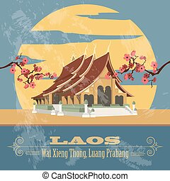 Laos infographics, statistical data, sights. Vector...
