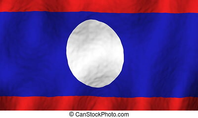 Laos Looping Flag Animated Background