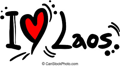 Laos love - Creative design of laos love