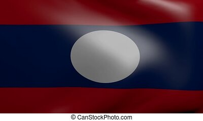 laos strong wind flag
