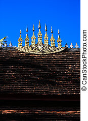 Laos temple roof#2