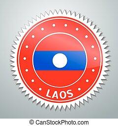 Laotian flag label - Vector flag label series - Laos