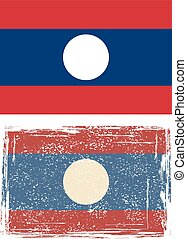 Laotian grunge flag. Vector illustration. Grunge effect can...