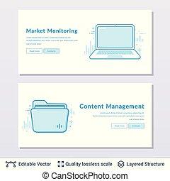 Lap top and folder symbols.