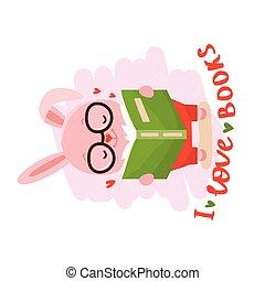 lapin, livre lecture